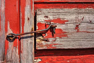 Photograph - Red Door Latch by David Matthews