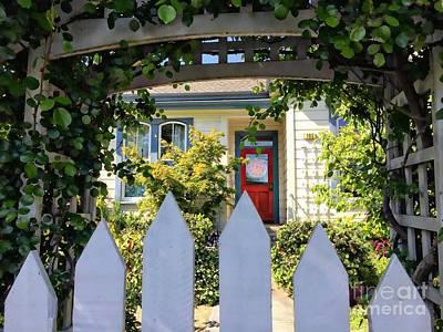 Photograph - Red Door by Leslie Hunziker