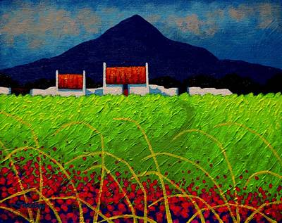 Poppies Field Painting - Red Door Meadow by John  Nolan