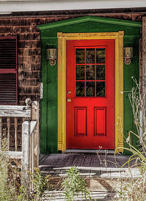 Photograph - Red Door by Mick Burkey