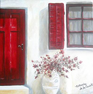 Painting - Red Door by Natascha De la Court