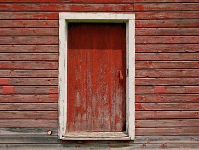 Old Door Photograph - Red Door by Odd Jeppesen