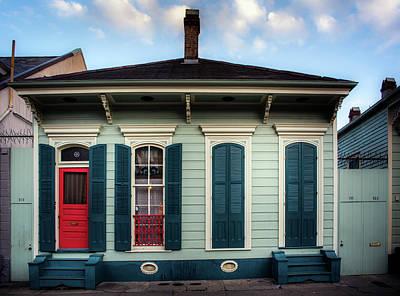 Shotgun Houses Wall Art - Photograph - Red Door On Bourbon Street by Greg Mimbs