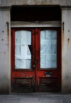 Photograph - Red Door On Rue Royale by Nadalyn Larsen