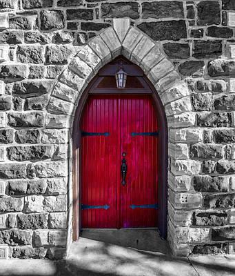 Stone Masons Photograph - Red Door by Paul Freidlund