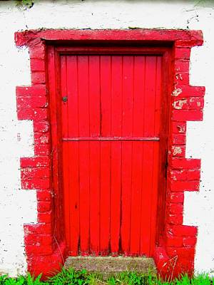 Photograph - Red Door by Stephanie Moore