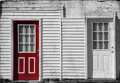 Photograph - Red Door White Door by Cathy Kovarik