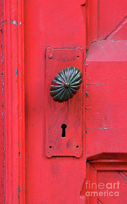 Photograph - Red Door With Ornate Knob by Jill Battaglia