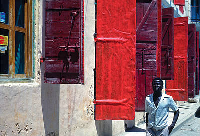 Photograph - Red Doors by Johnny Sandaire