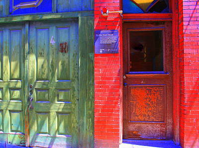Photograph - Red Doors Of Boston 3 by Julie Lueders
