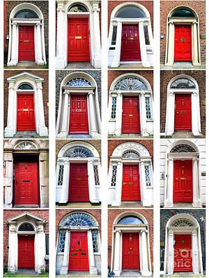 Photograph - Red Doors Of Dublin by John Rizzuto