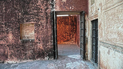 Photograph - Red Doorway At Jaigarh Fort, Jaipur 2007 by Chris Honeyman