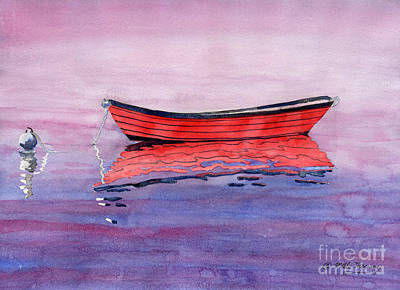 Painting - Red Dory by Melly Terpening