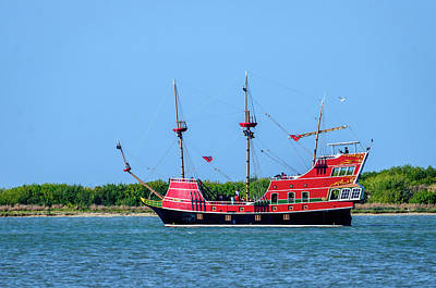 Photograph - Red Dragon Pirate Ship by Debra Martz