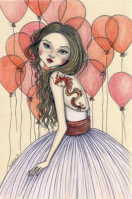 Red Dragon Art Print by Snezana Kragulj