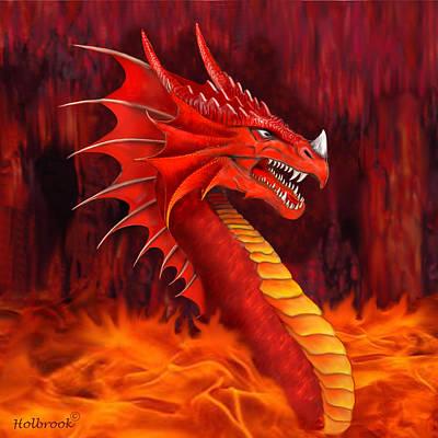 Red Dragon Terrifier Art Print