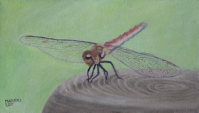 Painting - Red Dragonfly by Masami Iida