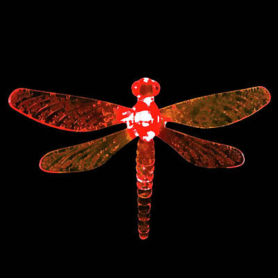 Digital Art - Red Dragonfly by Sarah Jean