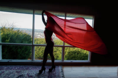 Photograph - Red Drape by Dan Friend