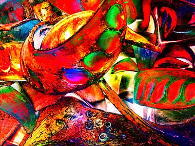 Digital Art - Red Dream by Christian Rutz