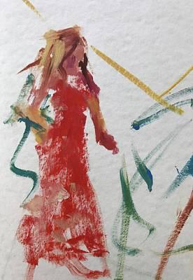 Painting - Red Dress by Carol Berning