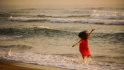 Photograph - Red Dress Celebrationl Delray Beach Florida by Lawrence S Richardson Jr