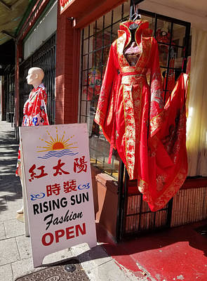 Photograph - Red Dress In Chinatown, Vancouver, Canada by Judith Rhue