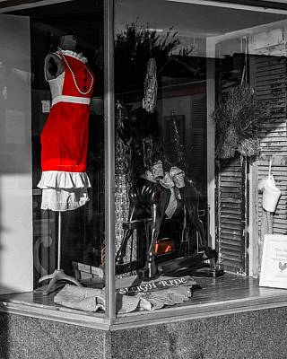 Photograph - Red Dress In Window by Rodney Lee Williams