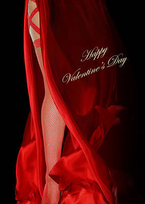 Digital Art - Red Dress Valentine by IM Spadecaller