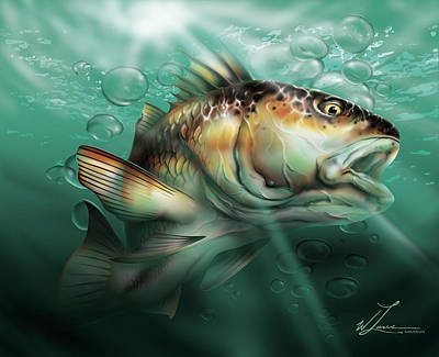 Digital Art - Red Drum by William Love