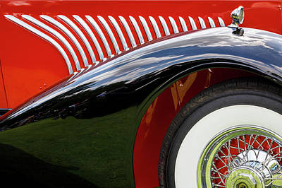 Photograph - Red Duesenberg by Dennis Hedberg