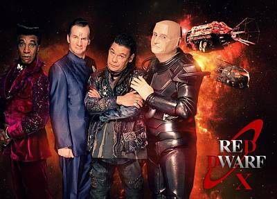 Red Digital Art - Red Dwarf by Super Lovely