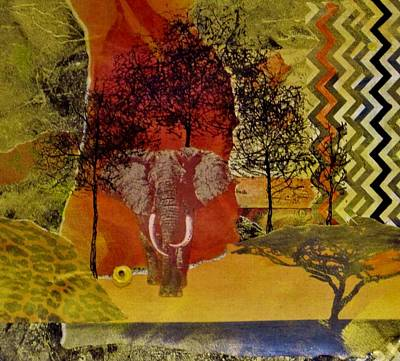 Representative Abstract Painting - Red Elephant by David Raderstorf