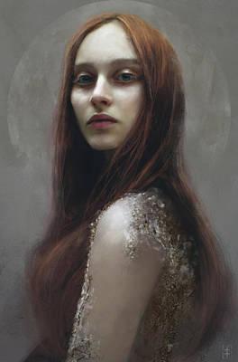Ginger Digital Art - Red by Eve Ventrue
