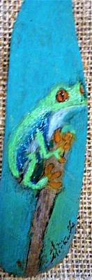 Mixed Media - Red-eyed Tree Frog by Ann Michelle Swadener