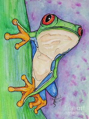 Painting - Red Eyed Tree Frog by Lorah Tout