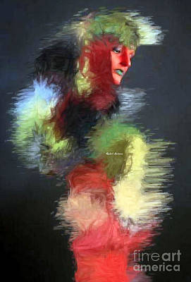 Digital Art - Red Face by Rafael Salazar