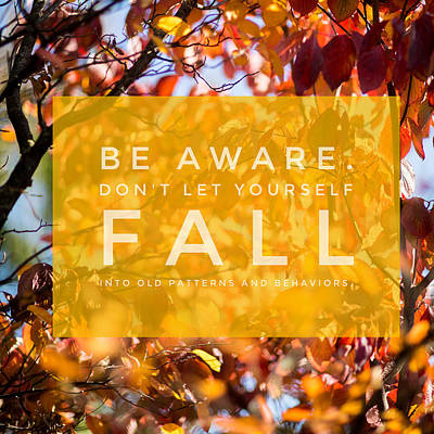 Classic Golf - red Fall - be aware dont let yourself fall by MindGourmet Food for Thought