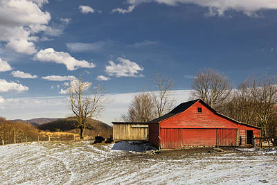 Photograph - Red Farm Barn by Ken Barrett