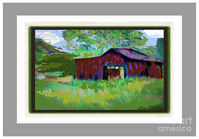 Photograph - Red Farm Barn by Shirley Moravec