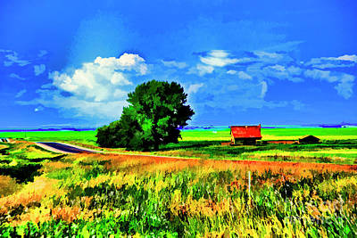 Photograph - Red Farm Canada by Rick Bragan