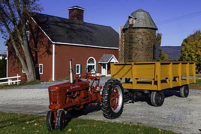 Red Farm Tractor Art Print