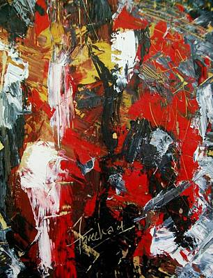 Painting - Red Fascism  by Fareeha Khawaja