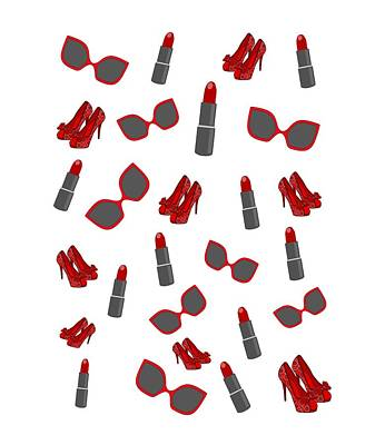 Digital Art - Red Fashion by Kathleen Sartoris