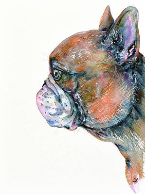 Red Fawn Frenchie Art Print