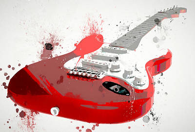Painting - Red Fender Paint Splatter by Dan Sproul