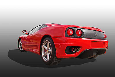 Photograph - Red Ferrari 360 by Gill Billington