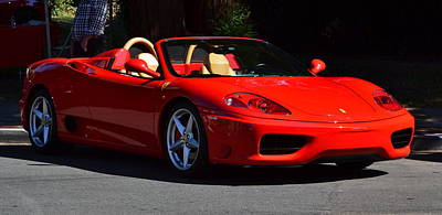 Photograph - Red Ferrari Convertable by Dean Ferreira
