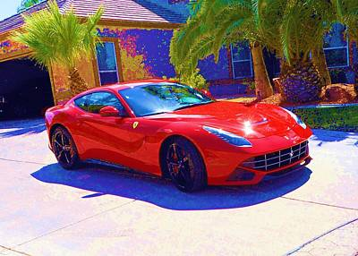 Photograph - Red Ferrari by Dietmar Scherf