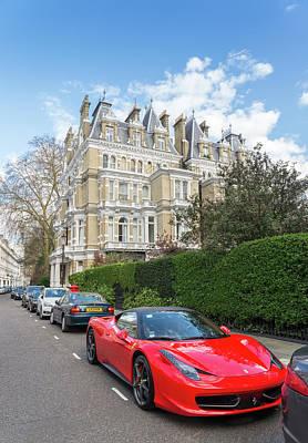 Photograph - Red Ferrari, London by Alexandre Rotenberg